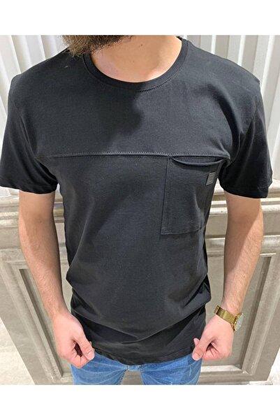 Retro Erkek Siyah T-shirt