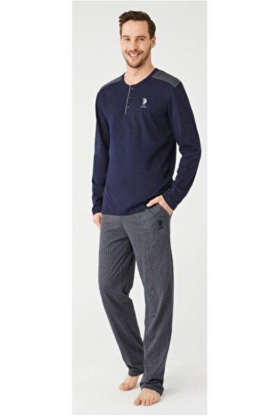 U.S. Polo Assn. Erkek Lacivert  Pijama Takım 18339