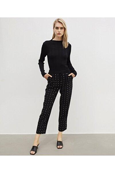 İpekyol Kadın Siyah Taş İşleme Pantolon