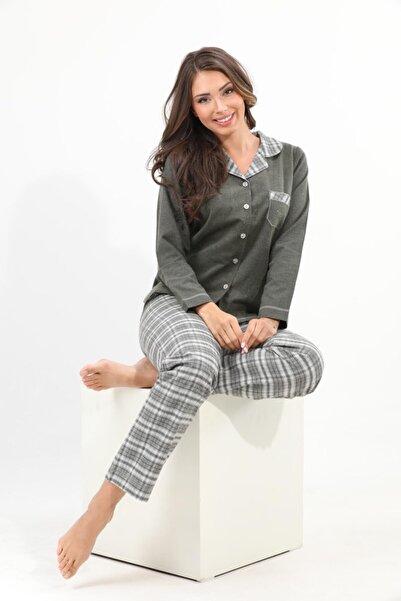 Evia Dokuma %100 Pamuk Pijama Takımı 1320