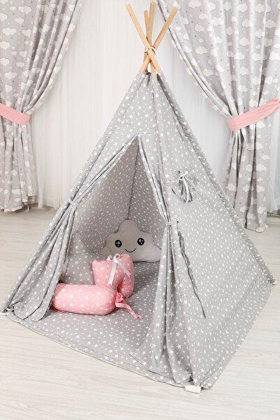 SİYAH Yıldızlı Çocuk Oyun Çadırı Çocuk Çadırı