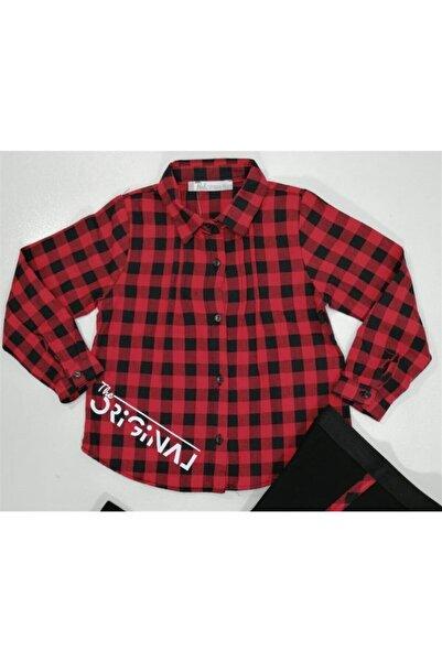 nk kids Kız Çocuk Kırmızı Ekose Gömlek 35200