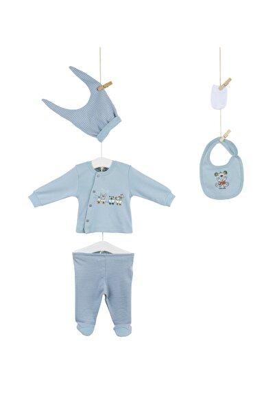 Aziz Bebe Erkek Bebek Mint Hastane Çıkış 5li Set