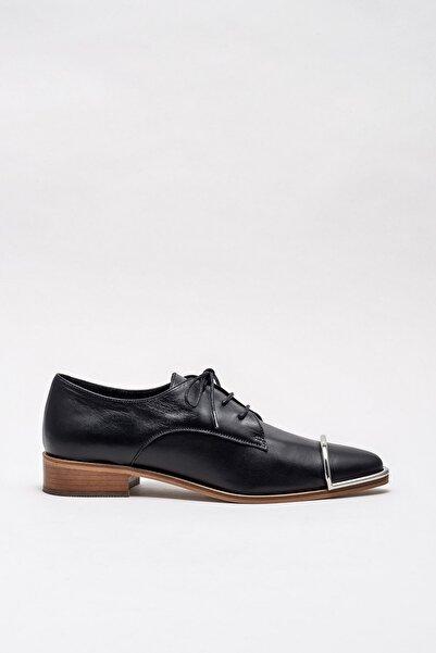Elle Shoes ARPITA Hakiki Deri Siyah Kadın Ayakkabı