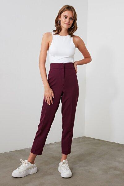 TRENDYOLMİLLA Mürdüm Basic Pantolon TWOAW21PL0290