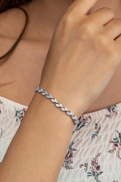 Else Silver 925 Ayar Gümüş Başaklı Yol Gümüş Bileklik