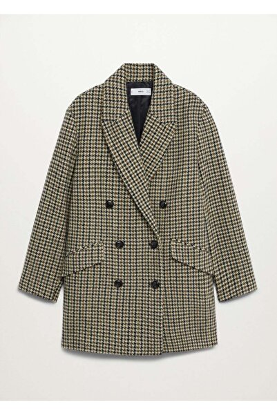 MANGO Woman Kadın  Kahverengi Palto