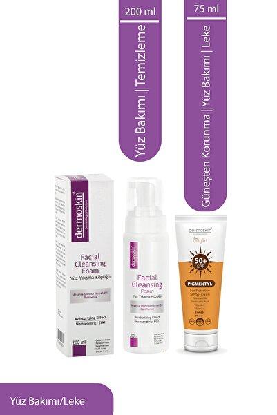 Dermoskin Yüz Yıkama Köpüğü 200 ml+ Be Bright Pigmentyl Sun Protection SPF50+ 2'li Avantaj Paket 8697796002510