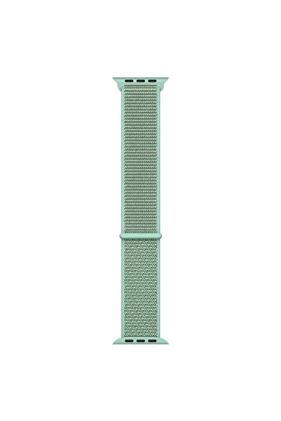 Microsonic Yeşil Apple Watch Series 6 44mm Hasırlı Kordon Woven Sport Loop