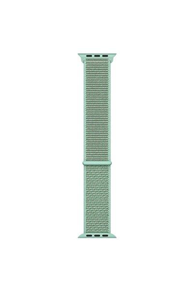 Microsonic Yeşil Apple Watch Se 40mm Hasırlı Kordon Woven Sport Loop