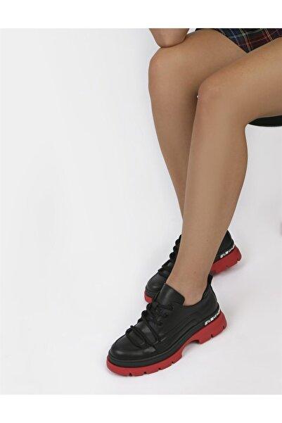 İLVİ Kadın Siyah Hakiki Deri Ayakkabı