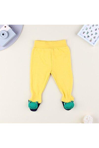 Albimini Unisex Bebek Sarı Yeşil Kurbağalı Patikli Tek Alt
