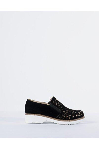 Vision Kadın Siyah Parlak Detaylı Ayakkabı