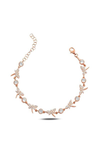Molenza Kadın Gümüş Yusufçuk Motifli Taşlı Bileklik