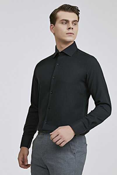D'S Damat Slim Fit Siyah Renk Erkek Gömlek