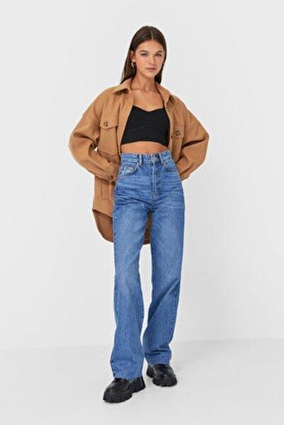 Kadın Orta Mavi Straight Fit Jean 04891872