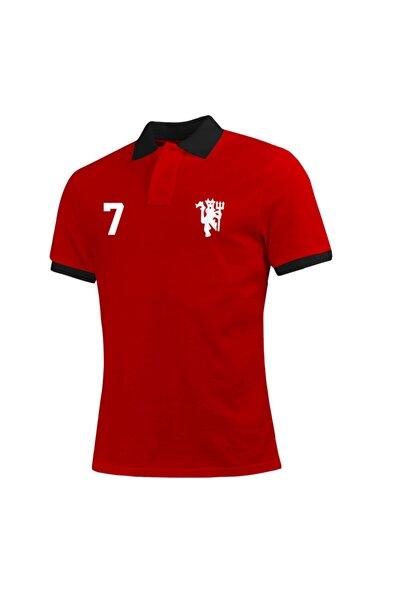OFFSIDE CLOTHES Erkek Kırmızı Manchester United Polo Yaka T-shirt