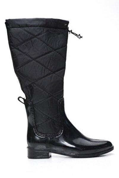 Kadın Siyah Yağmur Çizmesi
