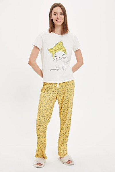 DeFacto Baskılı Kısa Kollu Pijama Takımı