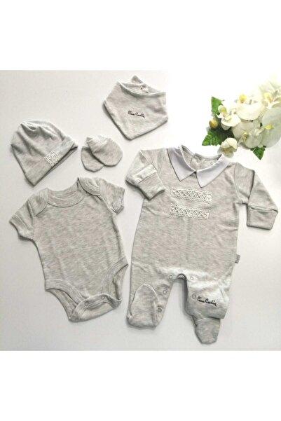 Pierre Cardin Baby Pc Düğmeli Tulumlu Beş Parça Hastane Çıkışı Zıbın Seti
