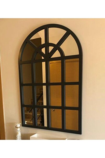 Paşabahçe Siyah Ahşap ÇerçevePencere Model Ayna