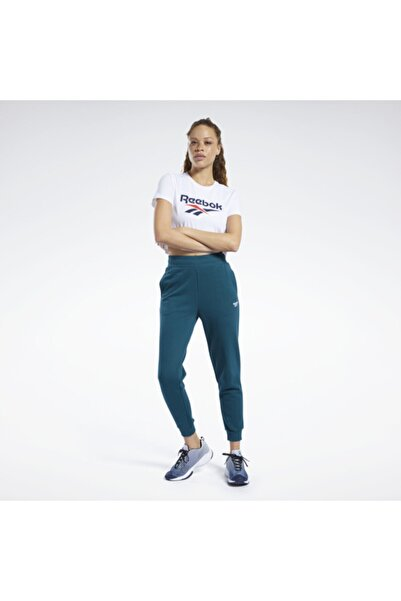 Reebok Kadın Beyaz Classics Vector Kısa Üst T-Shirt