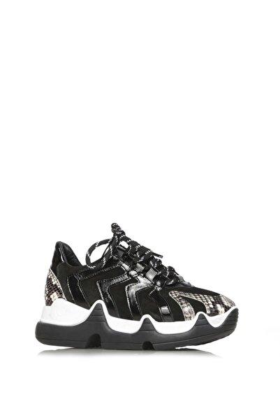 İLVİ Regana Bayan Spor Ayakkabı Yılan - Siyah Süet