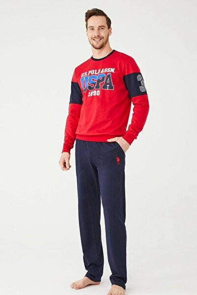 U.S POLO Erkek Kırmızı Ev Giyim