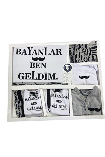 Miniworld Bayanlar Ben Geldim 10lu Hastane Çıkışı Yenidoğan Zıbın Seti Kutulu %100 Pamuk
