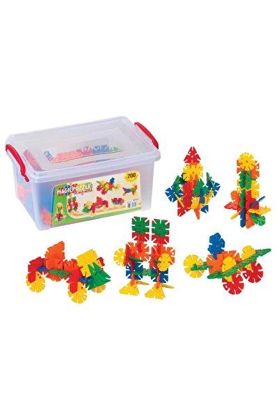 DEDE Toys Dede Magic Puzzle Küçük Box 200 Parçalı Lego Set