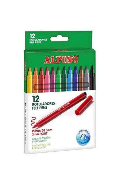 Alpıno 12 Renk Keçeli Boya Kalemi  Ar000002