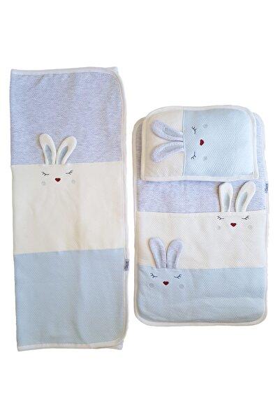 Gaye Bebe Mavi Battaniyeli  Sevimli Tavşanlar Alt Açma Seti