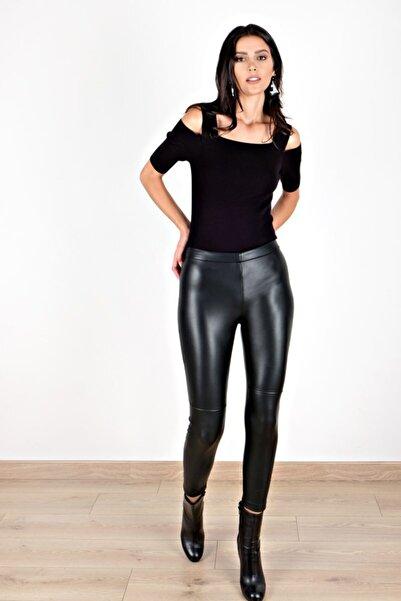 Spazio Kadın Siyah Elysia Deri Pantolon 40094849