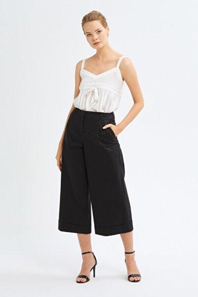 adL Kadın Siyah Duble Paça Pantolon