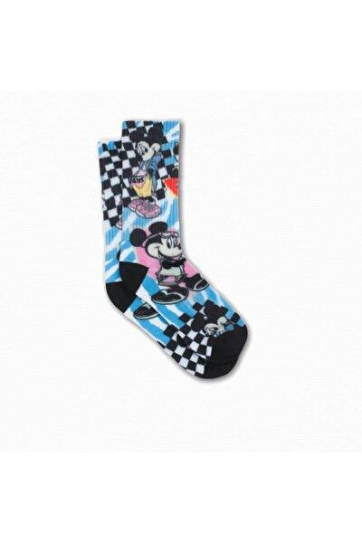 Vans Unisex Çocuk Mavi Baskılı Çorap
