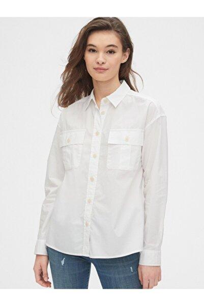 GAP Kadın Beyaz Uzun Kollu Gömlek 524103