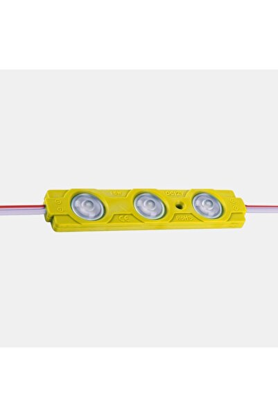 KrcDisplay Sarı Modül Led 10'lu Paket Üç Çipli Mercekli 2835 1,5watt 12volt
