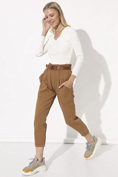 Arma Life Kadın Sütlü Kahve Beli Lastikli Pantolon