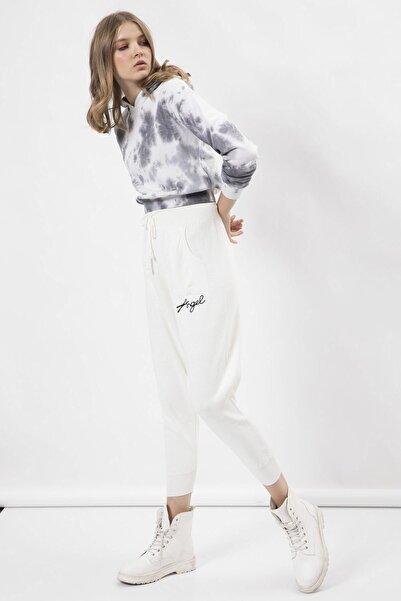 Arma Life Kadın Ekru Nakışlı Triko Pantolon