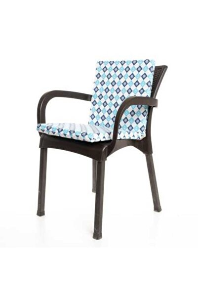 MERTİM Mer-tim Turkuaz Çapa Desenli Sandalye Minderi 1 Adet
