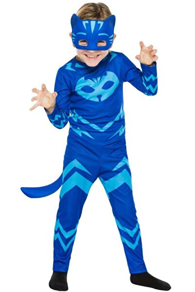 Pj Mask Pijamaskeliler Kedi Çocuk Kostüm 7-9 Yaş