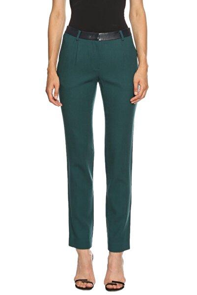 HANII Y  Kadın Yeşil Klasik Pantolon