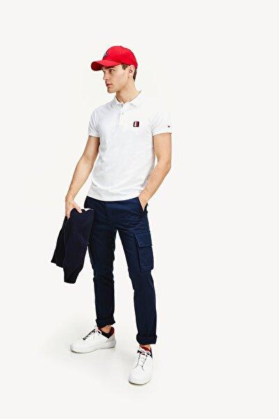 Tommy Hilfiger TH Erkek Flex Mouline Badge Slim Polo T-shirt MW0MW12244YBR