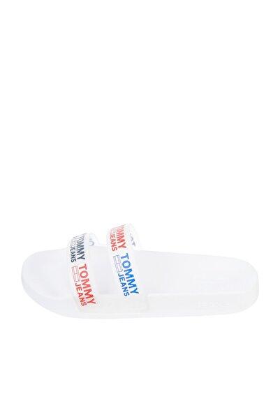 Tommy Hilfiger Kadın Beyaz Terlik Double Strap Pool Slıde EN0EN01304