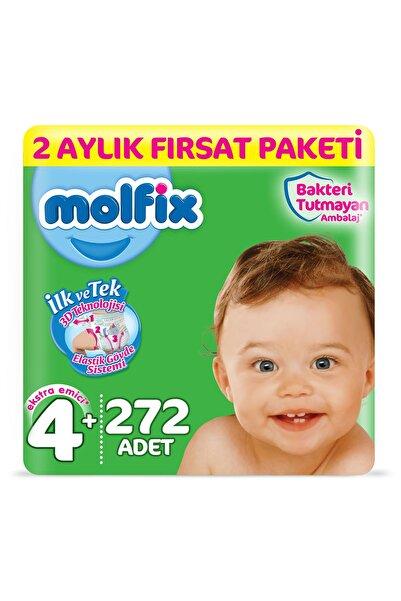 Molfix 3d Bebek Bezi Beden 4 Maxiplus 2 Aylık Fırsat Paketi 272 Adet