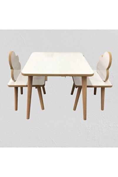 webkapinda Yaz-sil Yüzey Ahşap Çocuk Masa Sandalye Takımı-çocuk Oyun Masası-aktivite Masası-çalışma Masası