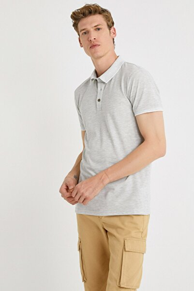 Koton Erkek Gri Polo Yaka T-Shirt
