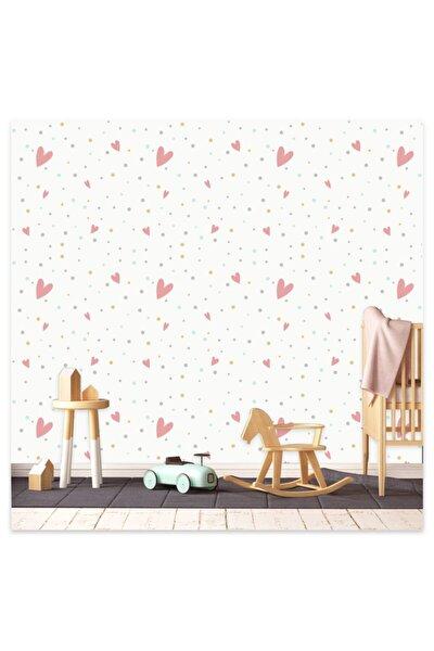 Sticker Sepetim Renkli Puantiyeler Ve Kalpler 2 Ve 5 cm 100 Adet Karışık Çocuk Odası Duvar Sticker