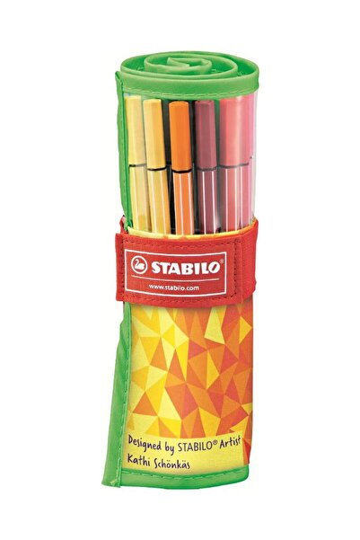 Stabilo Pen 68 Colormatrix Rollerset 25 Renk 1 Mm Keçeli Kalem /