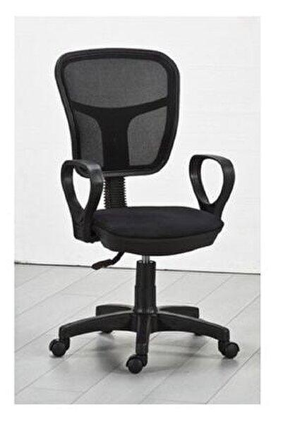 Siyah Fileli Bilgisayar Ofis Çalışma Sandalyesi Koltuğu